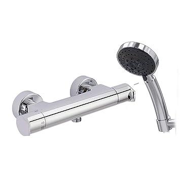 Galindo Aroha 46053000 grifo ducha termostático cromo con accesorios de ducha: Amazon.es: Bricolaje y herramientas