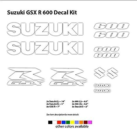 Suzuki GSXR 600 750 1000 Decal Sticker 7 inches