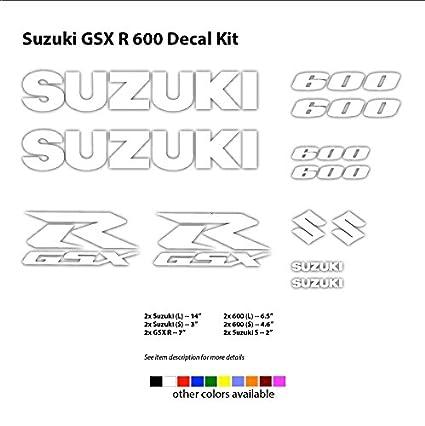 Amazon com: Suzuki Racing GSXR 600 750 1000 Decals Stickers (12 pcs