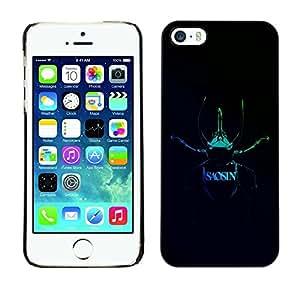LECELL -- Funda protectora / Cubierta / Piel For Apple iPhone 5 / 5S -- Saosin --