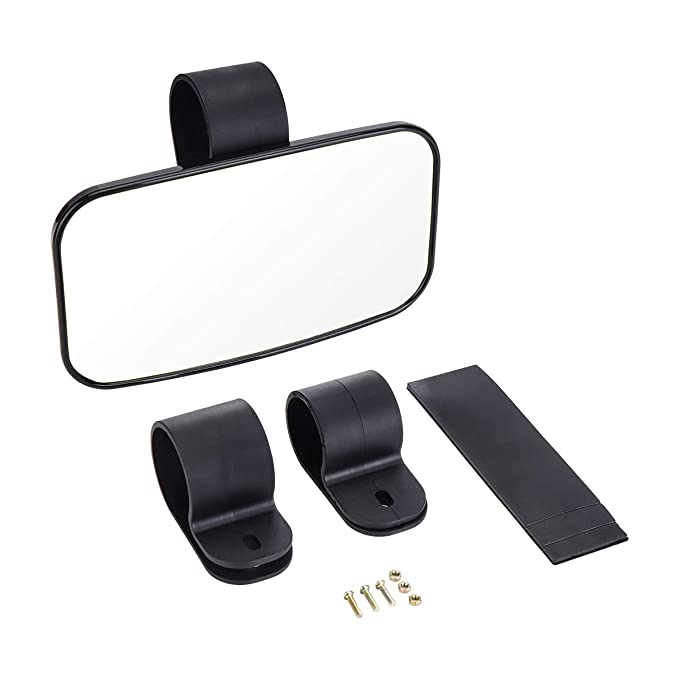 Utv Rear View Mirror >> Rear View Mirror For Utv Issyauto High Definition Mirror With Shatterproof Tempered Glass And 1 5 2 Mount For Polaris Rzr Can Am Commander And