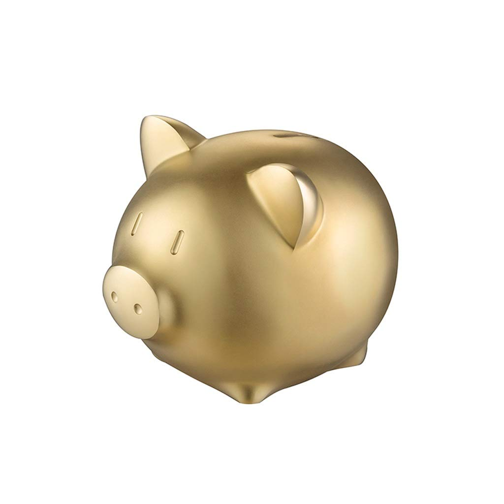 Tian Golden Pig Shape Piggy Bank Copper Large Coin Piggy Bank Decoration Creative Gift