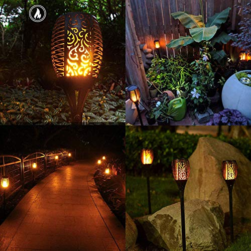 Otdair Solar Torch Lights Waterproof Flickering Flame Solar Torches Dancing Flames Landscape Decoration Lighting Dusk to Dawn Outdoor Security Path Light for Garden Patio Driveway (4 Packs) by Otdair (Image #4)