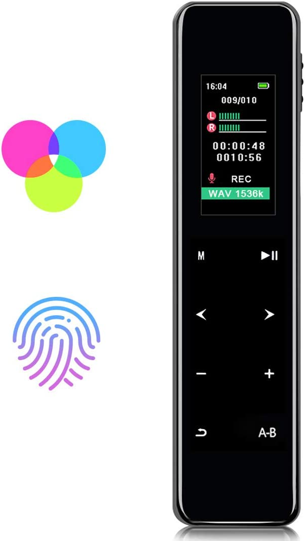 Meetings,16gb Mini Voice Activated Recorder,Listening Device for Spying Up to 1536 Kbps Voice Recording,with with Clip,Password Protection,for Lectures