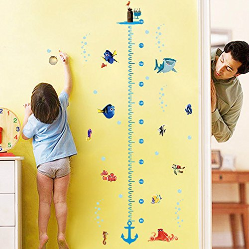 Finding Nemo Height Chart Measure Wall Sticker Decal for Kids Baby Nursery Room (Winnie The Pooh Height Chart)