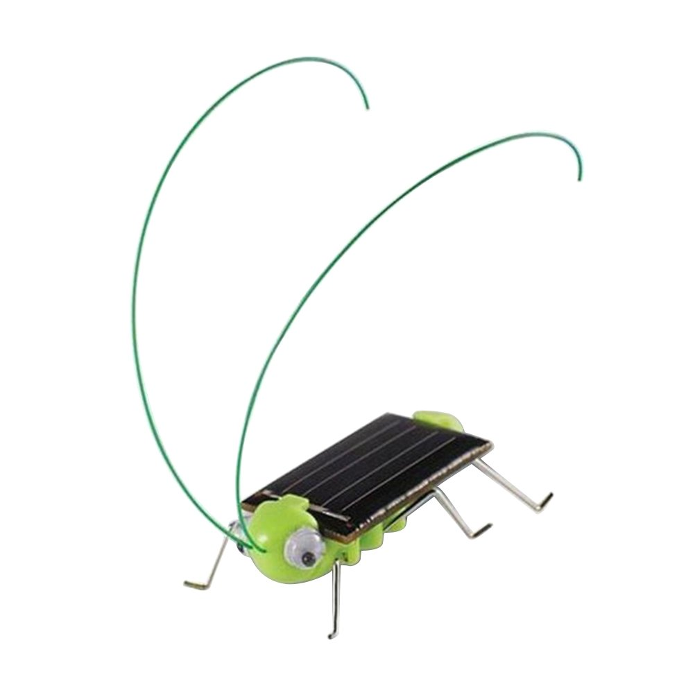 STOBOK solar powered grasshopper robot toy educational insect toys for kids