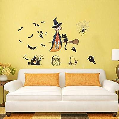 Zyzdsd Decoración De Halloween De Dibujos Animados Bruja Gato ...