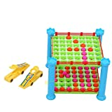 Chakit Baby Early Educational Toys Four Serial Double Marbles Puzzle Board Game Toy