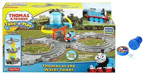 [2 Item Bundle:Licensed Collectible Fisher-Price Die-Cast Metal Thomas at the Water Tower Portable Railway Take-N-Play and 1 Assorted Color Thomas Stamp] (Cute Costumes To Make Yourself)