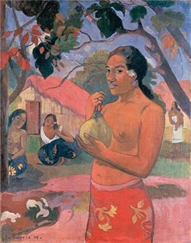 Oil Painting 'Woman Holding A Fruit,1893 By Paul Gauguin', 16 x 20 inch / 41 x 52 cm , on High Definition HD canvas prints is for Gifts And Garage, - Town Center Westland