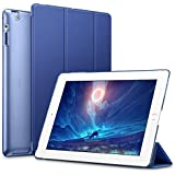ESR iPad 2 3 4 Case, Smart Case Cover [Synthetic Leather] Translucent Frosted Back Magnetic Cover with Auto Sleep/Wake Function [Light Weight] (Navy Blue)