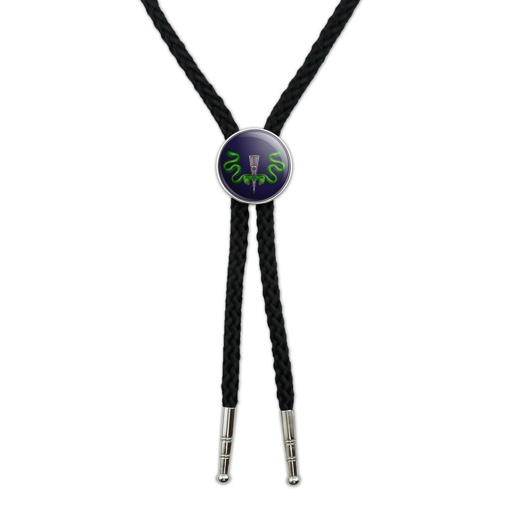Aztec Double Green Snakes Western Southwest Cowboy Necktie Bow Bolo Tie GRAPHICS & MORE