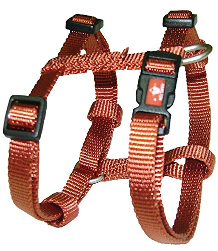 Hamilton B CFA LGRB Adjustable Comfort Dog Harness Fits Chest Size 30 to 40-Inch with Brushed Hardware Ring, Large, Red Brick