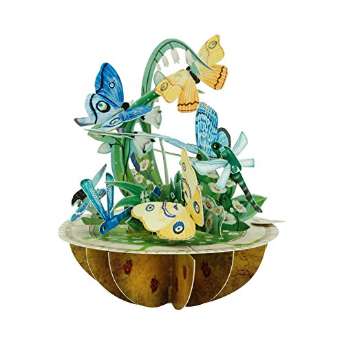 Santoro Pirouettes PS044 Butterfly and Dragonfly 3D Pop up - Designer Dragon 3