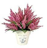 Creative Displays Mauve Heather In French Embellished Clay Container