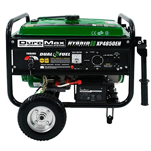 DuroMax XP4850EH 3850 Running Watts/4850 Starting Watts Dual Fuel Electric Start Portable (Propane Gas Generator)