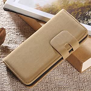 Vintage Soft Wallet Leather Case For Iphone 5 5S 5G With Stand Flip Phone Bag With Card Holder Beige-beige