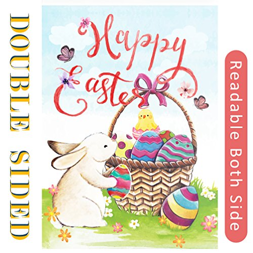 Happy Easter Garden Flag - Double Sided Read,Vertical Decora
