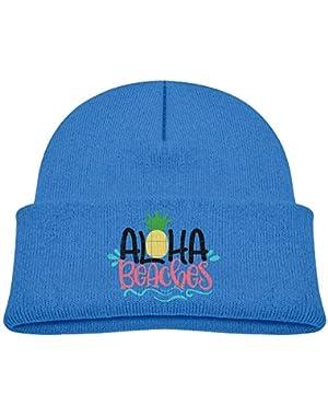 Cute Aloha Beaches Printed Baby Girl Boys Winter Hat Beanie
