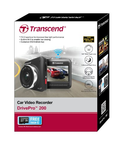 Transcend 16GB DrivePro 200 Car Video Recorder With Suction Mount (TS16GDP200M) by Transcend (Image #6)