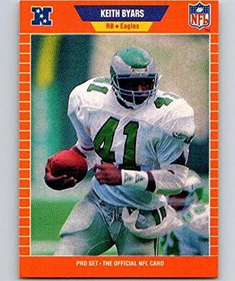 a9b1df63a4f Amazon.com: 1989 Pro Set #313 Keith Byars Eagles NFL Football ...