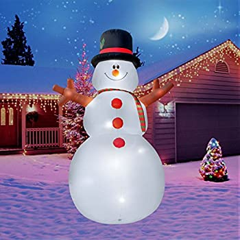 holidayana 15 ft giant inflatable christmas snowman featuring lighted interiorairblown inflatable christmas decoration with built in fan and anchor ropes