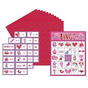 Amazon Com Valentine Bingo Game Valentine S Day Party Game 20