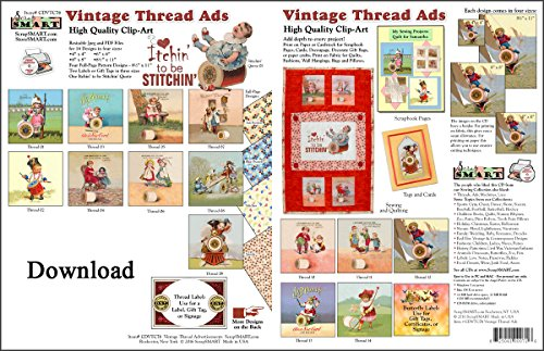 ScrapSMART Vintage Thread Ads Collection Software in Jpeg and PDF Files for Mac [Download] by ScrapSMART
