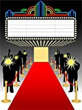 elegant party themes Laeacco 4x5ft Vinyl Photography Background Red Carpet Movie Hollywood Elegant Theatra Stage Show Entrance to Hall Wedding Party Performance Event Backdrop Camera Shoot Background Video Studio