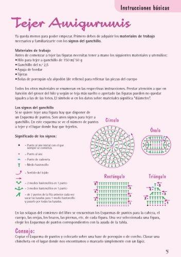 Amazon.com: Muñecos de ganchillo Amigurumi / Amigurumi crochet dolls: Con gráficos para realizar 10 proyectos / With Illustrated Instructions for 10 ...