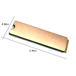 Laptop NVMe M.2 Heatsink with Nano Thermal Pads,Heat Sink Copper for 2280 M2 SSD Laptop (2pcs) (Color: Copper Heatsinks)