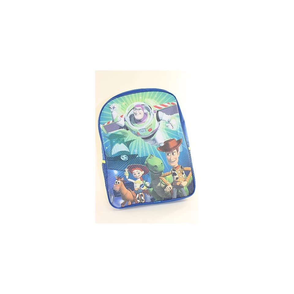 Disney Toy Story Kids Blue and Green Backpack School Bag. Clothing