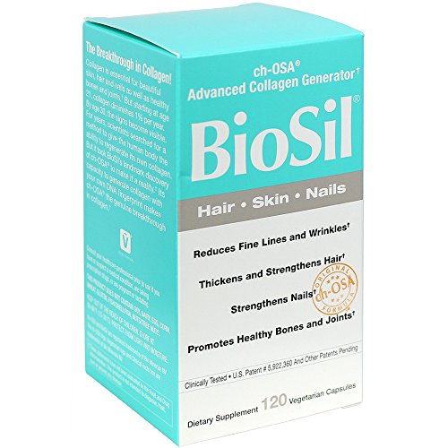 BioSil - Hair, Skin, Nails, Supports Keratin and Collagen Production, Natural Nourishment For Your Body's Beauty Proteins, 120 Capsules (FFP) by Natural Factors