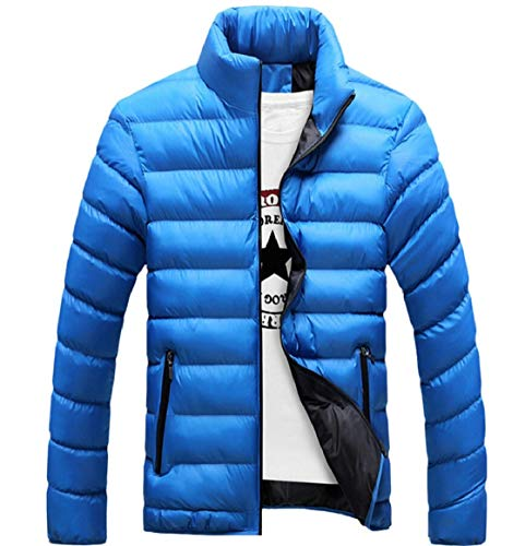 Packable Outdoor Puffer Men's Jackets Quilted Blue Down security Lightweight Coat wxn4Rw7P