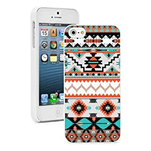 Apple iPhone 5 5s White 5W655 Hard Back Case Cover Color Aztec Pattern