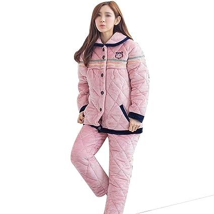 AXIANQI Otoño E Invierno, Engrosamiento De Tres Capas Más Pijamas De Maternidad De Terciopelo,