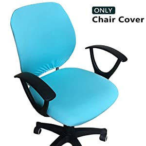 Melaluxe Computer Office Chair Cover - Protective & Stretchable Universal Chair Covers Stretch Rotating Chair Slipcover (Lake Blue)