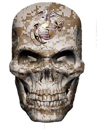 (Marine Corps Skull Decal USA Sticker Military Vinyl Graphic USMC Semper Fi Camo)