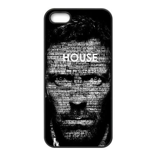 B7H12 dr house Typografie E4T7LQ iPhone 5 5s Handy-Fall Hülle schwarz DC4DLI5FV decken