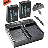 BM Premium 2-Pack Of LP-E12 Batteries and USB Dual Battery Charger for Canon Rebel SL1, EOS-M, EOS M2, EOS M10, EOS M50, EOS M100 Mirrorless Digital Cameras