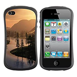 "Hypernova Slim Fit Dual Barniz Protector Caso Case Funda Para Apple iPhone 4 / iPhone 4S [Naturaleza Hermosa Forrest Verde 51""]"