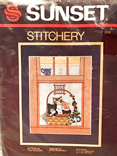 Sunset Stitchery Kittens In The Window Embroidery Kit 2558