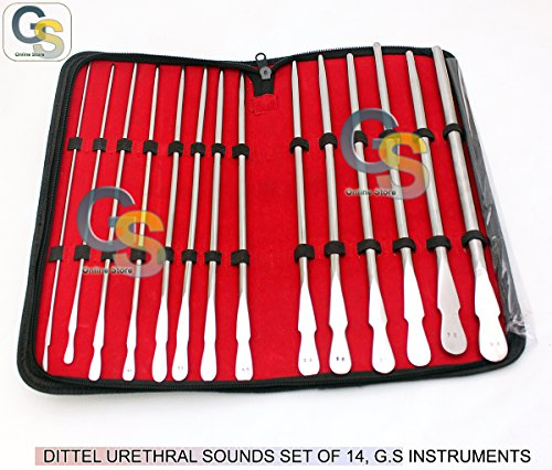 DITTEL URETHRAL SOUNDS SET OF 14 G.S INSTRUMENTS