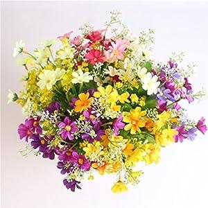 7 Branch 28 Heads Cute Silk Daisy Artificial Decorative Flower Wedding Flower Bouquet Home Room Table Decoration 18