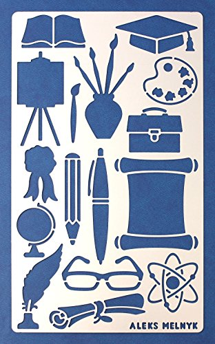 Aleks Melnyk 19 Bullet Journal Stencil   Education  Stationery  Art   Metal  Stainless Steel Planner Stencils Journal   Fits Journal  Notebook  Diary  Bujo  Scrapbook   Diy Drawing Template Stencil