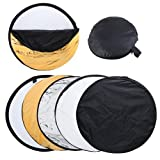 Happyjoy 32'' Photo Photography 5 in 1 Collapsible Multi Light Reflector Studio Outdoor