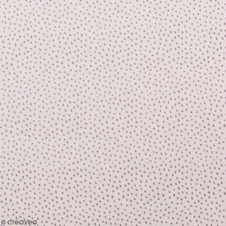 Retal de tela lienzo algodón Made by Me – puntos púrpura ...
