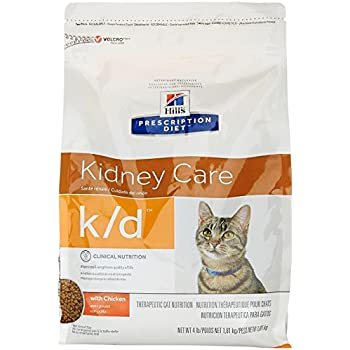 Hills Prescription Diet k/d Feline Renal Health Dry Food 4-lb bag