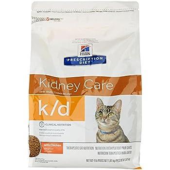 Hills Prescription Diet k/d Feline Renal Health Dry Food 4-lb bag