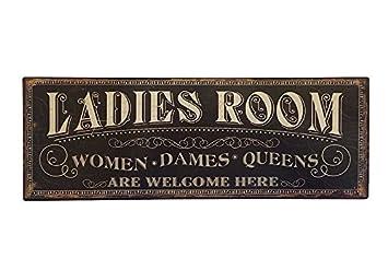 Blechschild LADIES ROOM Toilettenschild Vintage Nostalgie Geprägt 20x50cm